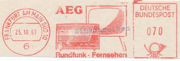 Freistempel Kleiner Ausschnitt 618 AEG Radio Rundfunk Fernsehen - Affrancature Meccaniche Rosse (EMA)