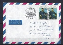 Belgique: 1 Lettre Avec Oblit. 1er Jour Sur Timbres 2365 Pour Les Etats-Unis (Vincent Van Gogh) - Brieven En Documenten