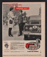Pub Papier 1969 Automobiles  Pneu KLEBER Colombes  Automobile Voiture V10 GT - Publicités