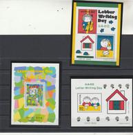 Japon Yvert  Bloc 157 + 159 + 165  ** Neufs Sans Charnière - Journée De La Lettre  1997 1998  1999 - Blocks & Kleinbögen