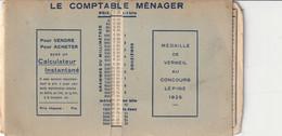CONCOURS LEPINE 1925 , Le Comptable Ménager , Calculateur Instantané , Donne Le Prix à Payer Pour Les Ventes Au Kilo, - Other Plans