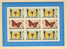 ILES VIERGES 1978 PAPILLONS  YVERT N°B9 NEUF MNH** - Vlinders