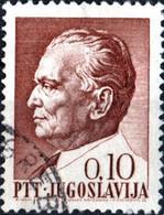 JUGOSLAVIA, YUGOSLAVIA, MARESCIALLO TITO, 1967, 0,10 D., FRANCOBOLLO USATO Mi:YU 1233x, Sn:YU 861, Yt:YU 1144 - Gebraucht