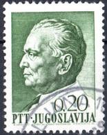 JUGOSLAVIA, YUGOSLAVIA, MARESCIALLO TITO, 1967, 0,20 D., FRANCOBOLLO USATO Mi:YU 1235x, Scott:YU 863, Yt:YU 1146 - Gebraucht