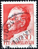 JUGOSLAVIA, YUGOSLAVIA, MARESCIALLO TITO, 1967, 0,30 D., FRANCOBOLLO USATO Mi:YU 1236x, Scott:YU 864, Yt:YU 1149 - Gebraucht