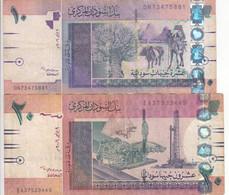 SUDAN 5 10 POUNDS 2006 P-66 67 LOT FINE USED SERIES DN7 EA3 - Sudan