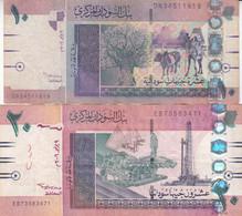 SUDAN 5 10 POUNDS 2006 P-66 67 LOT FINE USED SERIES DN3 EB - Sudan