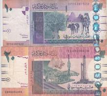 SUDAN 5 10 POUNDS 2006 P-66 67 LOT FINE USED SERIES DP EB - Sudan