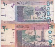 SUDAN 5 10 POUNDS 2006 P-66 67 LOT FINE USED SERIES DK8 EA5 - Sudan