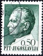 JUGOSLAVIA, YUGOSLAVIA, MARESCIALLO TITO, 1967, 0,50 D., FRANCOBOLLO USATO Mi:YU 1238x, Scott:YU 866, Yt:YU 1152 - Gebraucht