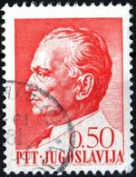 JUGOSLAVIA, YUGOSLAVIA, MARESCIALLO TITO, 1968, 0,50 D., FRANCOBOLLO USATO Mi:YU 1283, Scott:YU 927, Yt:YU 1153 - Gebraucht