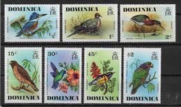 Dominika 1976  Vögel Mi.-Nr. 481 - 487 ** / Mnh - Zonder Classificatie