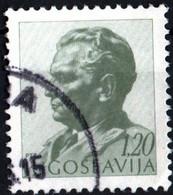 JUGOSLAVIA, YUGOSLAVIA, MARESCIALLO TITO, 1968, 1,20 D., FRANCOBOLLO USATO Mi:YU 1243, Scott:YU 932, Yt:YU 1161 - Gebraucht