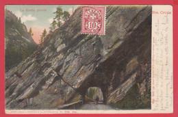 CPA- SAINTE-CROIX- La Roche Percée- DND - 1905 *2 Scans - JU Jura