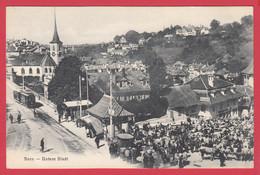 CPA- BERN - Untere Stadt - Marché Aux Bestiaux - Tram- Animation TOP *2 Scans - BE Berne