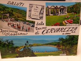 Cartolina Saluti Dalle Terme Di Cervarezza Appennino Reggiano Vedutine 1966 - Reggio Emilia