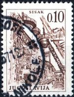JUGOSLAVIA, YUGOSLAVIA, INGEGNERIA, ARCHITETTURA, 1966, 0,10 D., FRANCOBOLLO USATO Mi:YU 1165, Scott:YU 831, Yt:YU 1070 - Gebraucht