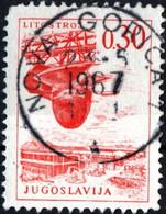 JUGOSLAVIA, YUGOSLAVIA, INGEGNERIA, ARCHITETTURA, 1966, 0,30 D., FRANCOBOLLO USATO Mi:YU 1156, Scott:YU 834, Yt:YU 1073 - Gebraucht