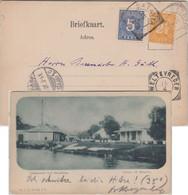 Niederl. Indien - 5+2 1/2 C. Ziffer AK Jsfabriek/Luisbrug Batavia 1901 - Zonder Classificatie