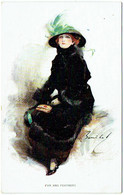 Illustrateur : W. BARRIBAL. Fur And Feathers. Femme. Art Nouveau. Mode. - Barribal, W.