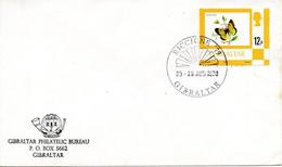 GIBRALTAR. N°358 De 1977 Sur Enveloppe. Papillon/Riccione'79. - Vlinders