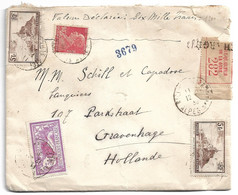 (C04) Y&T N° 260 X2 +243+240 - LETTRE CHARGEE NICE  => HOLLANDE  1930 - Storia Postale