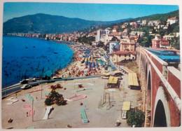 """ALASSIO - SAVONA - RIVIERA DEI FIORI - PANORAMA DALL' """"HOTEL S.LUCIA"""" - SPIAGGIA - MINI GOLF - AUTO - 1972 - Savona"""