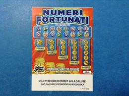 ITALIA BIGLIETTO LOTTERIA GRATTA E VINCI USATO € 3,00 NUMERI FORTUNATI LOTTO 3003 SERIE TT VARIANTE SENZA LOGO A TIMONE - Billetes De Lotería