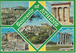 CPM Grèce Souvenir Of Athens Vue Multiple 5 Vues - Gruss Aus.../ Grüsse Aus...