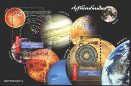 Georgia. 2010. Bl 46. Astronomy, Planets, Europe-sept. MNH. - Georgia