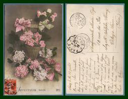 CPA Fleur Obl. Convoyeur Ligne Paris à Meaux / SEM + Ar Vitry S Seine T84  1913 - Flowers