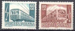 Poland 1954 - Railway Electrification - Mi.837-38 - MNH (**) - Nuevos