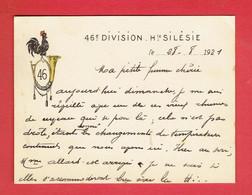 MILITARIA 1921 OCCUPATION DE LA HAUTE SILESIE POLOGNE 46e DIVISION CHASSEURS ARMEE FRANCAISE - Documentos
