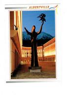 Cpm - 73 - Albertville - Place De L'Europe Et La Statue - Pierre Margara Sculpteur - Revalp 311048 - Albertville