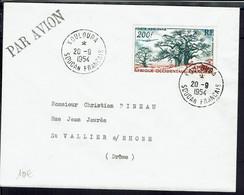 A.O.F. - Soudan Français -  Poste Aérienne N° 20 Seul Sur Enveloppe De Kouloura Du 20-9-1954, Pour La France - TB - - Briefe U. Dokumente