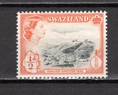 SWAZILAND   N° 55    NEUF SANS CHARNIERE  COTE 0.15€   REINE ELIZABETH II  MINERAIS - Swaziland (...-1967)