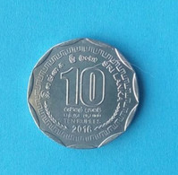 10 Rupee Coin From Sri Lanka, Used, Year 2016 - Sri Lanka