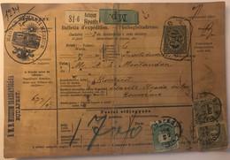 Romania - Bulletin D'expedition Budapest 1897 From Magyar Nemzeti Múzeum - Machine Stamps (ATM)