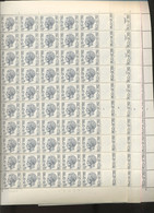Elstrøm. 8F.  En Feuilles. Les 4 Planches. Date 27-VII-73. Soit 200 Timbres - 1970-1980 Elström