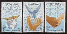 ISLE Of MAN 1986 - CHRISTMAS / Int. Year Of PEACE - 3v Mi 322-24 MNH ** Cv€2,50 N183 - Isle Of Man