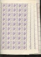 Elstrøm. 5-F.   En Feuilles. Les 4 Planches. Date 26-I-76. Soit 200 Timbres - 1970-1980 Elström