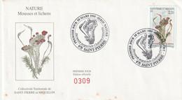 SAINT PIERRE ET MIQUELON Enveloppe 1er Jour 08-03-1995 Série Nature Timbre YT 611 - 1990-1999