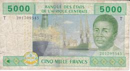BILLETE DEL TOGO DE 5000 FRANCS DEL AÑO 2002  (BANKNOTE) - Togo