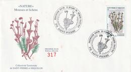 SAINT PIERRE ET MIQUELON Enveloppe 1er Jour 13-03-1996 Série - Nature Timbre YT 626 - 1990-1999
