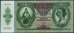 ♛ HUNGARY - 10 Pengo 22.12.1936 {Magyar Nemzeti Bank} UNC P.100 - Hungary