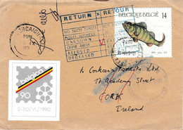 Brief Van Lichtervelde Naar Cork ( Corcaigh - Ierland ) 1980 & Terug Via Dublin  ( DUBLIN Returned Letter Section. - Brieven En Documenten
