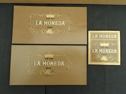 3  LITHOS, VITOLAS, BAGUE DE CIGARE, BAUCHBINDEN,   LA  MONEDA - Objets Publicitaires