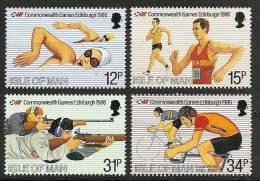 ISLE Of MAN 1986 - COMMONWEALTH GAMES Edinburgh - SALE 4v Mi 298-301 MNH ** Cv€4,00 N178 - Isle Of Man