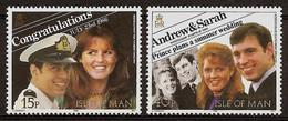 ISLE Of MAN 1986 - Marriage PRINCE ANDREW And SRAH FERGUSON - Mi 317-18 MNH ** Cv€3,00 N181 - Isle Of Man