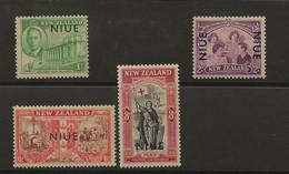 Niue, 1946, SG 98 - 101, Complete Set, Mint Lightly Hinged - Niue